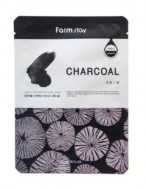 Маска с углем FARMSTAY Charcoal visible difference mask sheet 23мл: фото