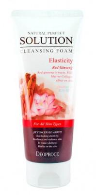 Пенка для умывания с женьшенем и лотосом DEOPROCE Natural perfect solution cleansing foam energy 170г: фото