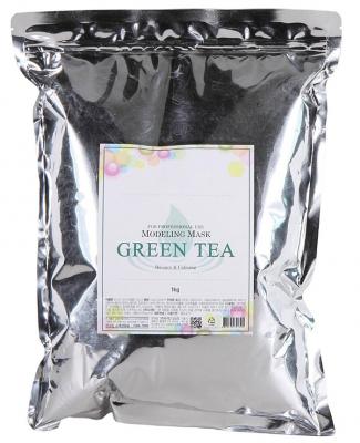 Маска альгинатная с зеленым чаем успокаивающая Anskin Grean Tea Modeling 1кг: фото