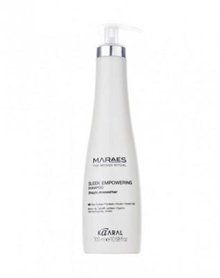Шампунь восстанавливающий для прямых поврежденных волос Kaaral Maraes Sleek Empowering Shampoo 300мл: фото