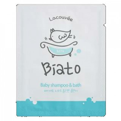 Детский шампунь и пенка для купания 2 в 1 Biato Baby shampoo & bath Lacouvee, 3 мл - 10 шт.: фото