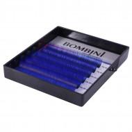 Ресницы Bombini Holi Синие, 6 линий, изгиб D MIX 8-13 0.10: фото