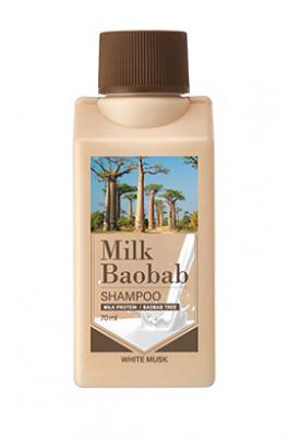 Шампунь с белым мускусом Milk Baobab Shampoo White Musk Travel Edition 70мл: фото