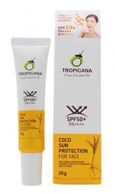 Солнцезащитный крем для лица TROPICANA Coco Sun Protection for face SPF50+ 20г: фото