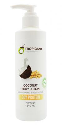 Лосьон для тела СОЕВЫЙ ПРОТЕИН TROPICANA Coconut Body Lotion Soy bean 240мл: фото