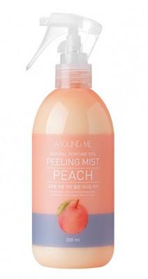 Пилинг-мист для тела с экстрактом персика WELCOS AROUND ME Natural Perfume Vita Peeling Mist Peach 300мл: фото