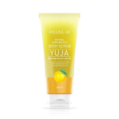 Скраб для тела с экстрактом цитрона WELCOS AROUND ME Natural Perfume Vita Body Scrub Yuja 200мл: фото
